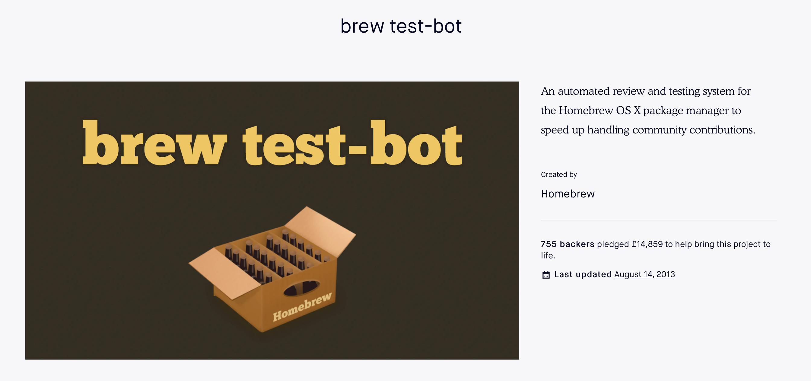 brew-test-bot Kickstarter
