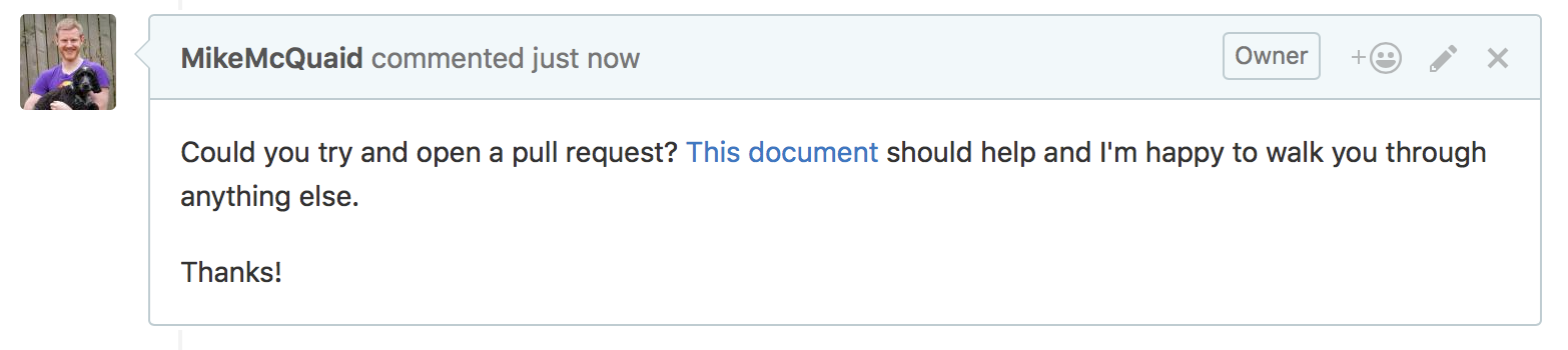 Try to open a pull request